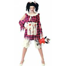 Ladies Zombie RAG DOLL Dress & Pantaloons Halloween Fancy Dress 10/12