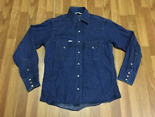 Mens Small - Carhartt Denim Western Pearl Snap Cowboy Rodeo Jean Shirt