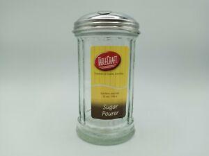 Kitchen Glass Table Sugar Dispenser Shaker Pourer Diner Retro Vintage Salt