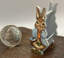 Karen Markland Artisan 1:12 Scale Hand Painted Wooden Rabbit Basket
