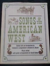 Songs of the American West HC/DJ Music Guitar Arrangements Lyrics David Cohen
