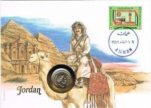 Numisbrief Jordan - Munt Jordan 25 fils 1984