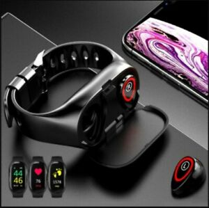 2-in-1 M1 Bluetooth Headset and Fitness Tracker Smart Bracelet