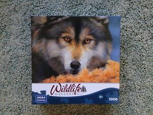 Wildlife Gallery Golden Eyes Wolf Puzzle 1000 Pc.Puzzle 100% Complete