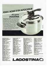 Publicité Advertising 107  1991   autocuiseur Lagostina