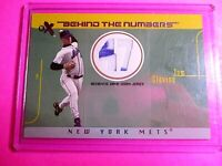2003 FLEER E-X Behind the Numbers TOM GLAVINE GAME used JERSEY w AUTOGRAPH #/500
