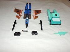 VINTAGE G1 TRANSFORMERS DIRGE & KUP COMPLETE W/O PACKAGING HASBRO JET & AUTOBOT