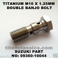 GSXR600 (97-05) TITANIUM M10 x 1.25 double banjo brake bolt