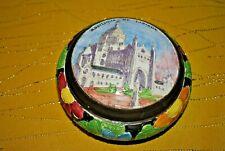 Ancienne bonbonnière vide-poche en céramique Souvenir de la Basilique de Lisieux