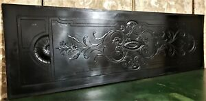 Large griffin scroll leaf carving panel Antique french architectural salvage