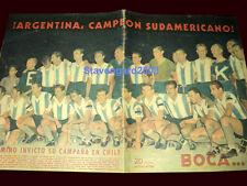 Soccer ARGENTINA SOUTH AMERICAN CHAMPION 1945 vs URUGUAY - Original Magazine