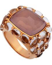 Mimi Milano 18k Rose Gold Rose Quartz and Rock Crystal Pavè Ring A151RQ8J