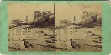 Egypte Le Caire Cimetière Photo Vintage Stereo Albumine