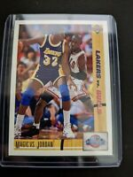 1991 Upper Deck #34 - MAGIC Johnson vs. Michael JORDAN Gem Mint.