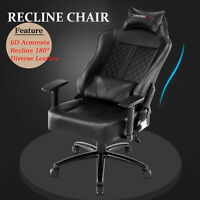 Executive Gaming Racing Home Office Chair Computer Chair Swivel Recliner Leather