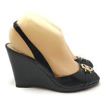 Michael Kors Women's Size 7 Rochelle Wedge Sandal Shoes Slingback Peep Toe Heels