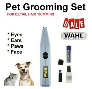 WAHL Pet Dog Cat Grooming Set Portable Detail Trimmer Clipper Paws Face Eyes