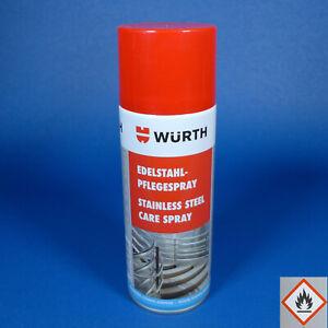 [25€/L] Würth Edelstahlpflegespray Profi Reiniger Pflege Spray 1x 400ml
