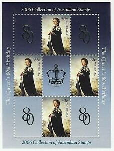 2006 'QUEEN'S 80th BIRTHDAY'  MNH MINI SHEET - EXCLUSIVE TO THE 2006 YEAR BOOK