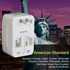 Travel Adapter, International Universal Power Converter Plug, All In One Outlet