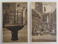2x Nürnberg Bayern Postkarten Lot um ~1920/30 Gänsemännchen-B. & Neptrunbrunnen