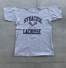 Vintage 80s Syracuse University Lacrosse NCAA Champion T Shirt Rayon 88/12 XL