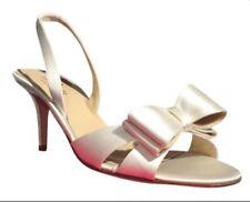 Kate spade new york bridal or wedding shoes for women ebay kate spade micah satin slingback peep toe bow wedding pumps sz 65 retail350 junglespirit Gallery