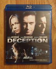Deception (2008) Like New Blu-ray Hugh Jackman, Ewan McGregor, Michelle Williams