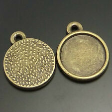 **8pcs Vintage Bronze Round Cameo Setting Cabochon Tray Inner Size 12.5mm 02108
