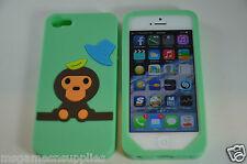 Green Baby Milo Monkey iPhone 5 5S Silicone Gel Full Back Designer Luxury Case