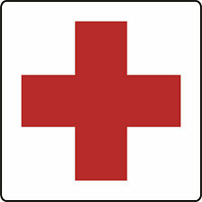 """12""""x12"""" RED CROSS MAGNETIC VEHICLE SIGN SET OF 2"""