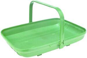 Garden Trug Green Plastic Large Basket Planter Fruit Vegetable Plants Tools