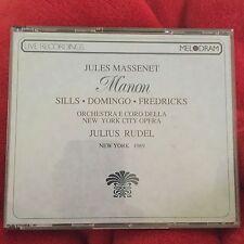 LIVE 2 CDS JULES MASSENET MANON OPERA NY CITY OPERA 1969 Sills Domingo Frederick