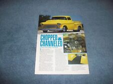 "1955 Chevy 3100 Custom Pro Street Pickup Truck Article ""Chopped & Channeled"""