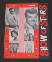 Early 1960's Ray Charles Fabian Concert Program Show of Stars
