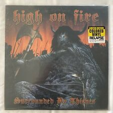 High on Fire Surrounded By Thieves Orange Colored Vinyl Album 2LP - Unplayed