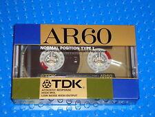 TDK  AR  60  VS. IV  BLANK CASSETTE TAPE (1) (SEALED)