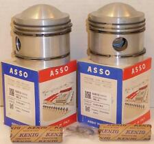 1967 Moto Guzzi V700 NOS ASSO PAIR of piston assemblies Made in Italy 80mm 03510