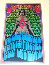 1967 Monterey Pop Festival Posters 1992 Foil Litho Reprint- Tom Wilkes