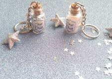 🌟Sparkling Moonlight Fairy Star Dust Keyring, with Silver 'stars' charms 🌟