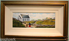 Original Oil Painting Framed GOING TO CHURCH by Irish Artist Terrence Butcher