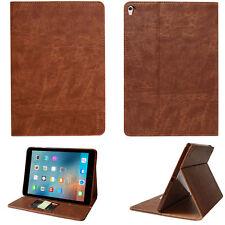 "Premium Leder Cover Apple iPad Pro 9.7"" Tablet Schutzhülle Case Tasche braun"