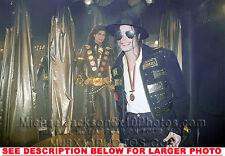 MICHAEL JACKSON 1994 MJ standing next to Mj doll (1) RARE PHOTO