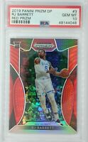2019-20 Panini Prizm Draft Picks Red RJ Barrett Rookie RC #3, Graded PSA 10