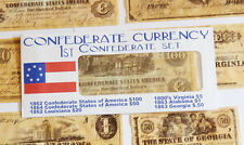 American Civil War 1st Confederate Replica Currency Money Parchment Banknotes