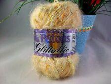 Patons Glittallic Yarn CREAM GLEAM Bulky Weight Discontinued Yarn