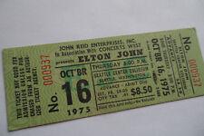 ELTON JOHN Original__1975__UNUSED__CONCERT TICKET__Seattle__EX+