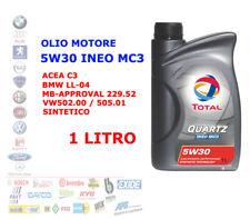 OLIO MOTORE AUTO BENZINA DIESEL TOTAL 5W30 QUARTZ INEO MC3 ACEA C3 1 LT