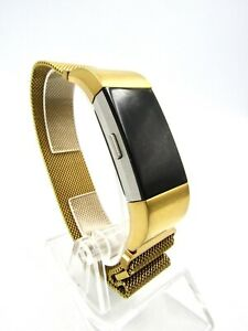 Fitbit Charge 2 Fitness Tracker Wristband Watch Gold Color, with Charger - Used