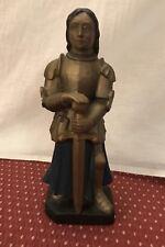 Statue en plâtre ? Jeanne d'Arc signée JL.DELAROCHE